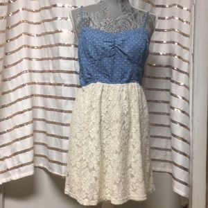 Dresses & Skirts - Blue & White Laces Dress